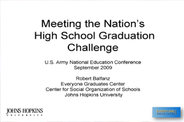 Meeting the Nation's High School Graduation Challenge